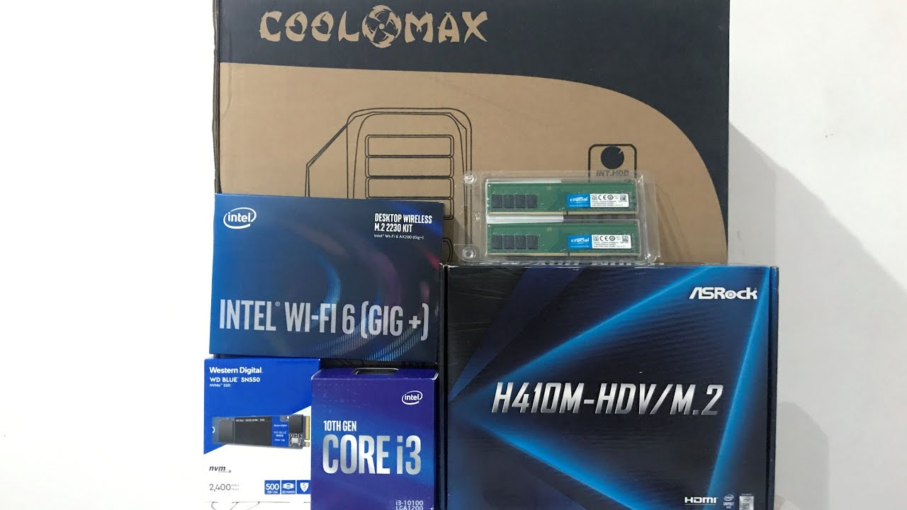 PC Build: Intel Core i3-10100 - YouTube