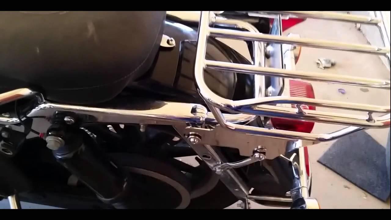 Harley Davidson Luggage Rack Install Youtube