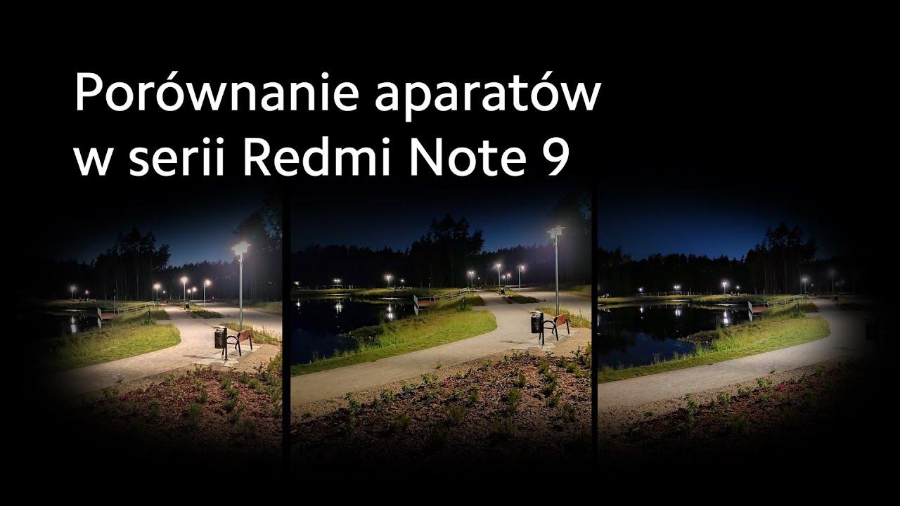 Porównanie aparatów w serii Redmi Note 9