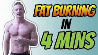 4 Minute Tabata HIIT Workout No Equipment For Fat Loss (FAT BURNING)