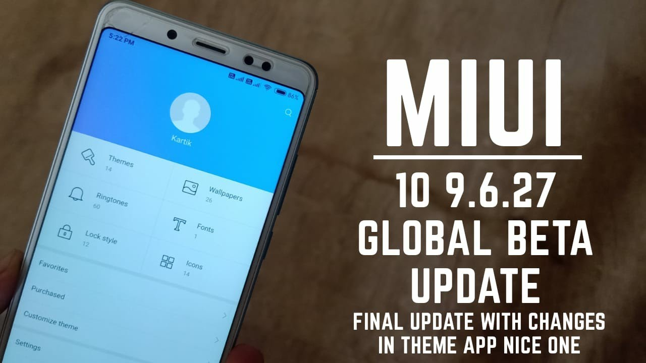 Miui 10 9 6 27 Global beta update for all xiaomi devices / Final update /  hindi
