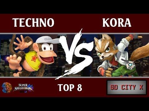 SDC X - Techno (Diddy Kong, Meta Knight) vs. Kora (Fox, Ike) [Top 8]