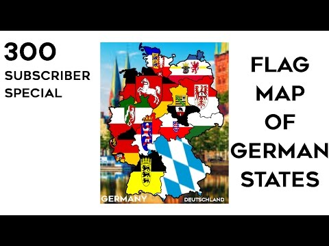Flag Map of German States (300 SUBSCRIBER SPECIAL)