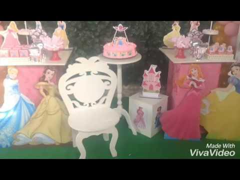 Decoração Princesas Disney Ana Clara 3 anos