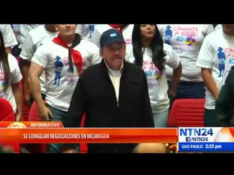 Llega a un punto muerto el diálogo en Nicaragua a raíz del tema de presos políticos