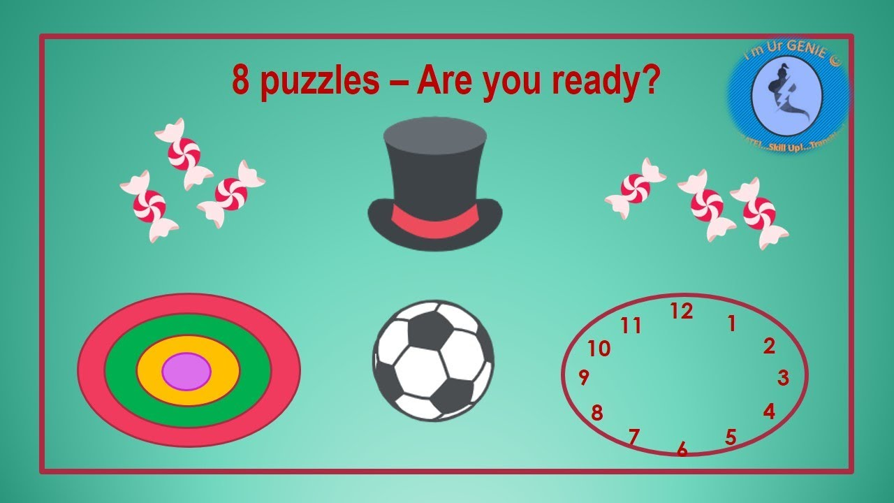 8 interesting puzzles for brain activity. Are you ready?|#SkillUpwithGenie#BrainTease