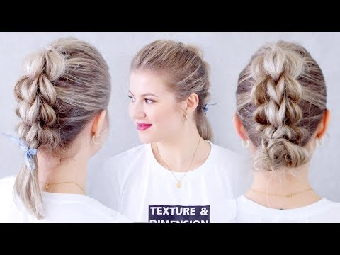 How To Three Strand Pull Through Braid Hair Tutorial
