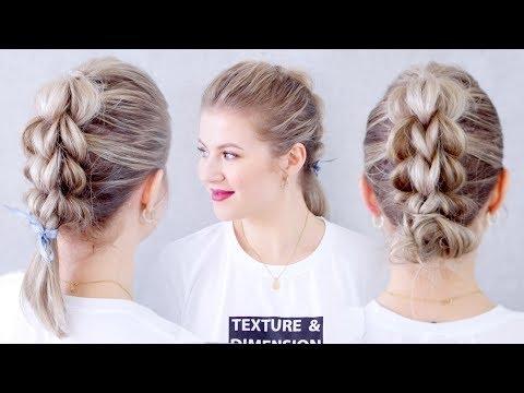 How To Three Strand Pull Through Braid Hair Tutorial