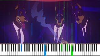 Caravan Palace - Lone Digger Piano Tutorial ♪ Synthesia + Midi ♪ Th...