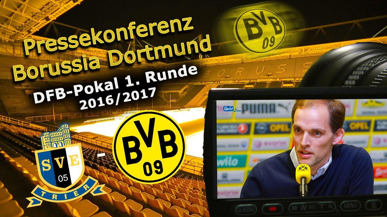 BVB-Pressekonferenz zum DFB-Pokal-Auftakt-Spiel in Trier
