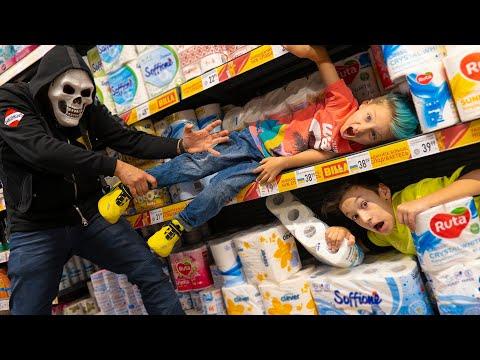 Экстремальные ПРЯТКИ в Супермаркете! 24 часа в Магазине!