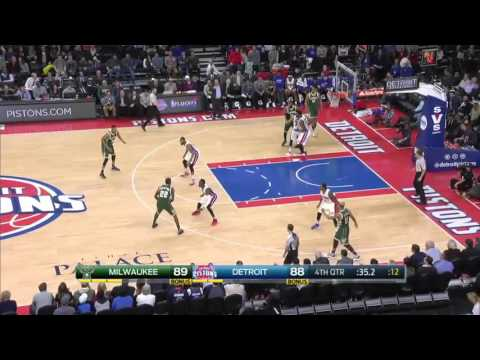 Milwaukee Bucks vs Detroit Pistons | March 21, 2016 | NBA 2015-16 Season