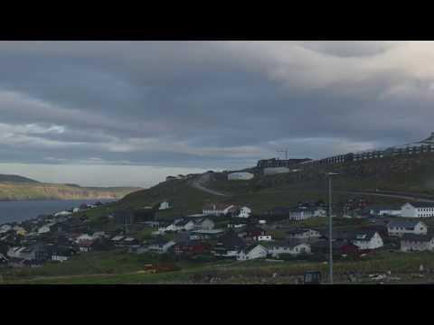 Clouds roll overhead the mystical Faroe