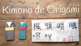 Como hacer un KIMONO japonés | ORIGAMI fácil para niños