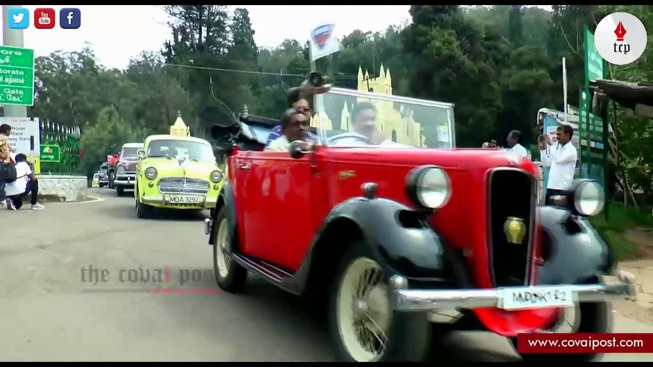 Vintage Car rally at Ooty... - YouTube
