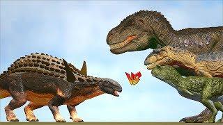 Ark Survival - SAUROPELTA vs CARNO/ALLO/TREX and more [Ep.317]