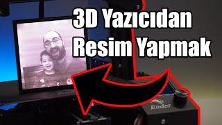 3D Yazıcıdan Resim Yapmak! (Ender 3 Pro Montaj)