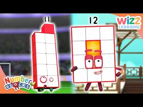 Numberblocks - NEW EPISODES! | Eleven & Twelve! | Learn to Count | Wizz Learning