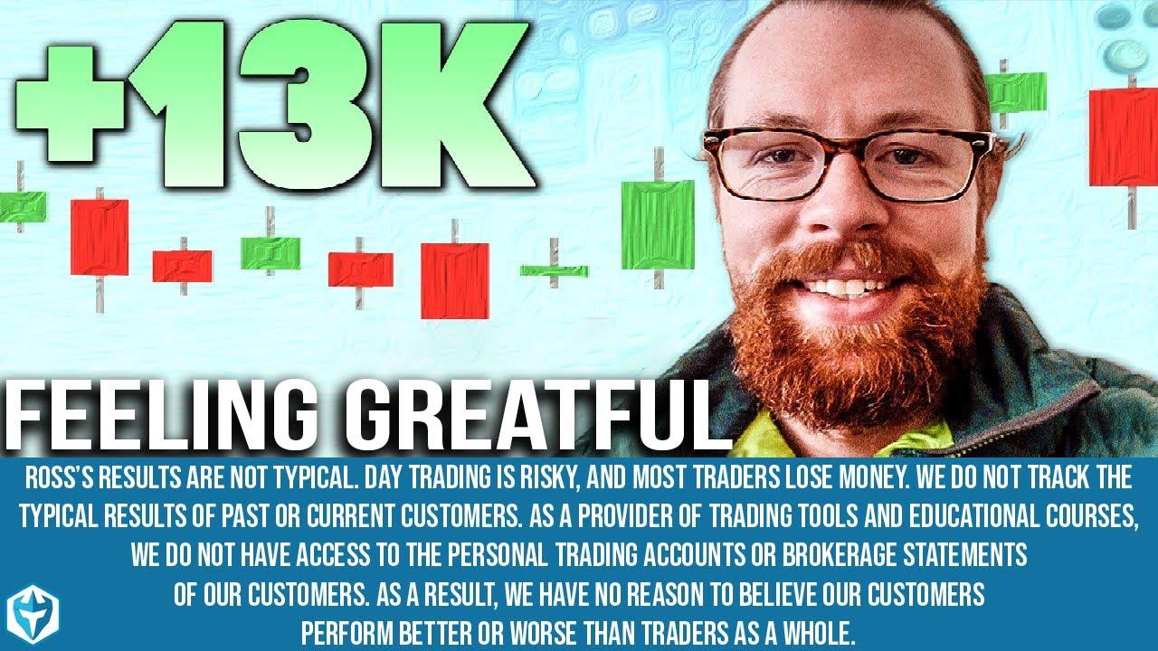 Feeling Grateful +$13k | Recap by Ross Cameron