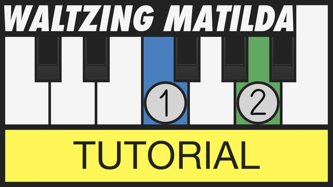 Waltzing Matilda How To Play Very Easy Piano Tutorial Youtube