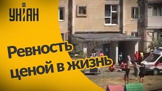 В Киеве мужчина из-за ревности подпалил магазин и спрыгнул с седьмого этажа