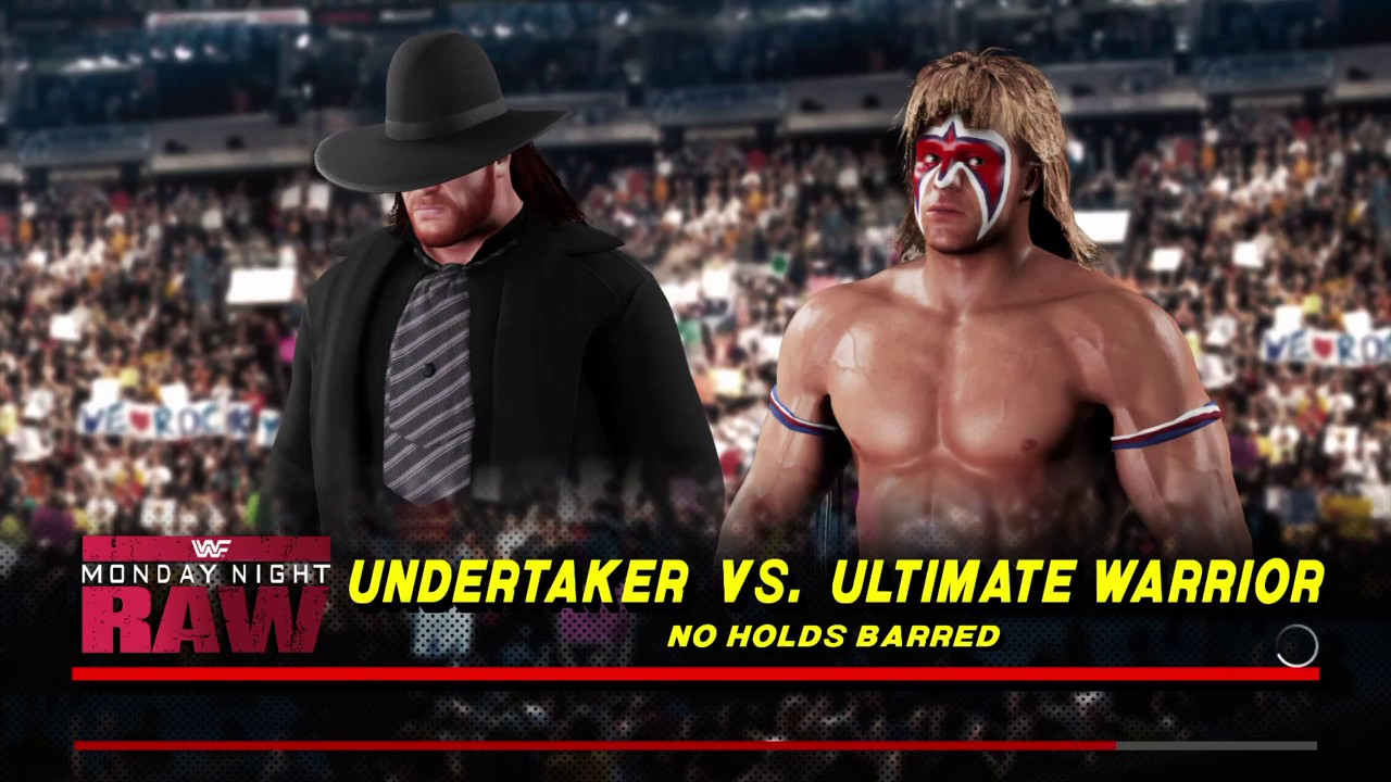 WWE 2K18 Undertaker '91 VS Ultimate Warrior 1 VS 1 No ...