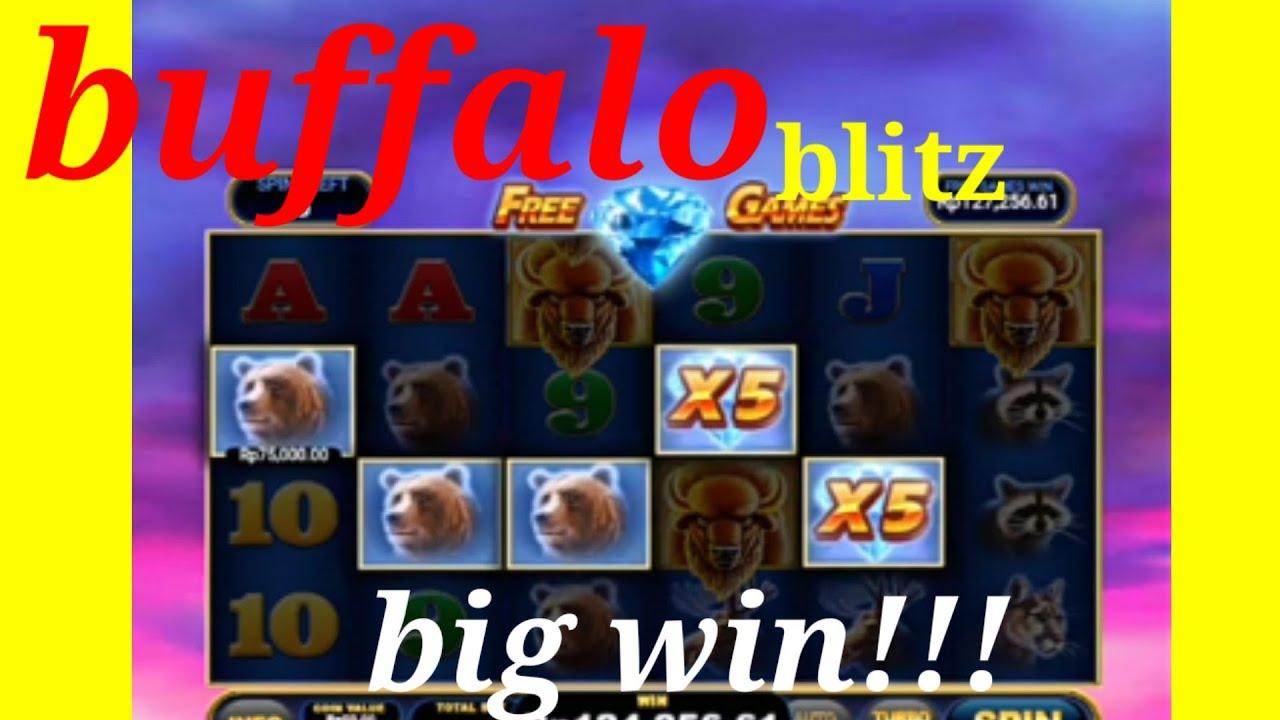 Slotonline Slotjackpot Slot Buffalo Blitz Playtech Big Win Youtube