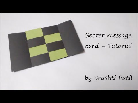 Secret Message Card -Tutorial | by Srushti Patil