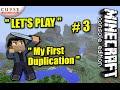 "Minecraft PS4 - DUPLICATION + MINING FAIL - Survival "" Let's play "" #3 -"