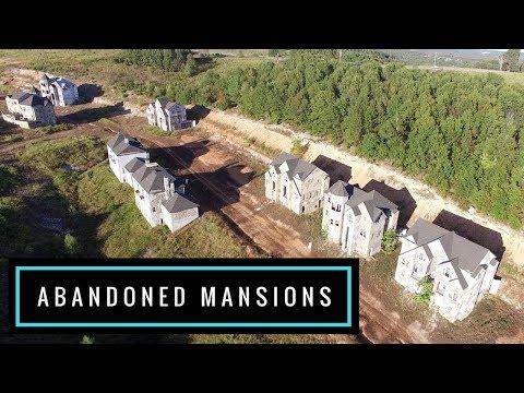 Abandoned Mansions - Indian Ridge Resort Community Branson Missouri   Amazing Drone Footage