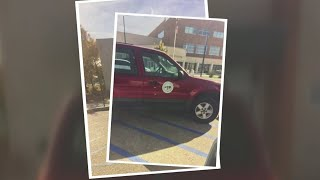 Sandoval county employee caught parking illegally