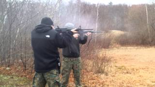 Cold day at the range shooting stag ar 15's
