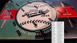 2016 Panini Prime Cuts Baseball Hobby Box ID 16PCBB303