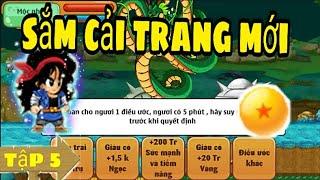 50 tỉ mới săn đệ tập 5 : ước rồng sắm cải trang vip nâng tầm sức đánh || jenki ngọc rồng online!