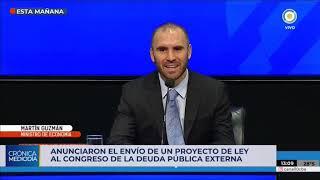 """Una deuda pública """"sostenible"""", el objetivo de la economía argentina"""