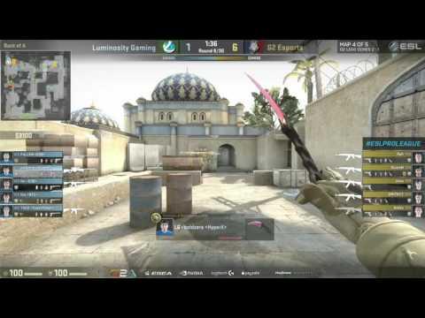 CS:GO - Luminosity vs. G2 [Dust2] Map 4 - ESL Pro League Season 3 Finals - Grand Final