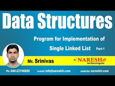 Program for Implementation of Single Linked List  Part-1 | Data Structures Tutorial