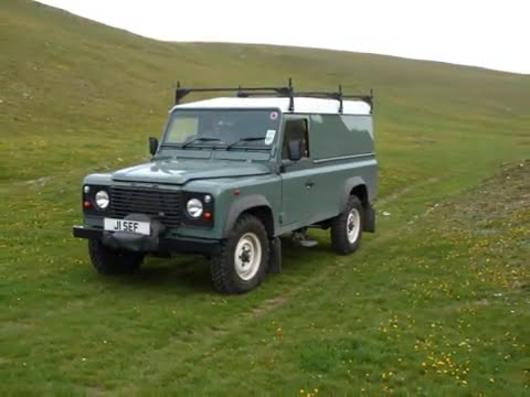 Land Rover Defender 110 Commercial photo clips.