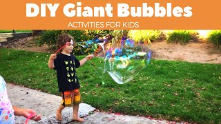 Best toddler learning videos | DIY Giant bubble recipe | summer science activities for kids