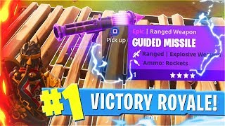 Most *OVERPOWERED* Weapon In Fortnite Battle Royale... (New Fortnite GUIDED MISSILE Weapon Update)