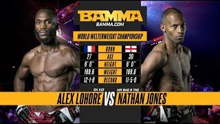 BAMMA 31: Alex Lohore vs Nathan Jones