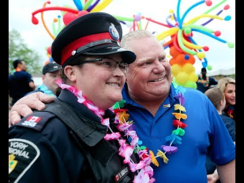 LEVY: Premier Ford proudly marches with cops in York Pride parade