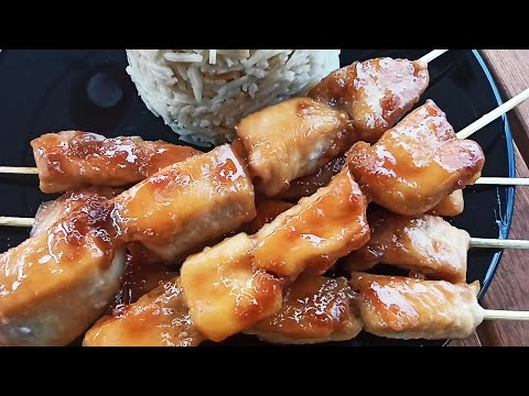 brochette-poulet-au-miel-sauce-soja-_chicken-skewer-with-honey-soy-sauce_بروشيت-دجاج-بالعسل-وصويا