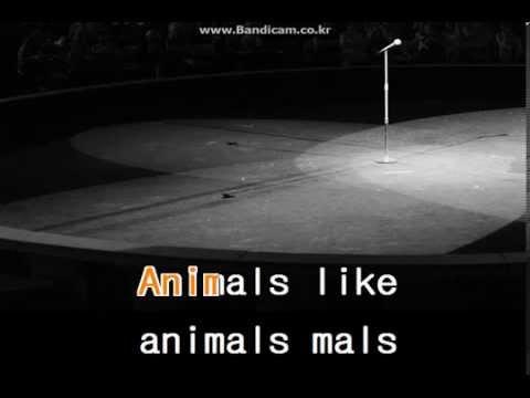 maroon 5 - Animals Karaoke (Hi-Quality)(lyrics)(mr)(Singing Room Ver.)