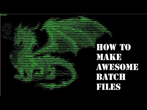 How to create awesome ascii-art in Command prompt|| Batch file