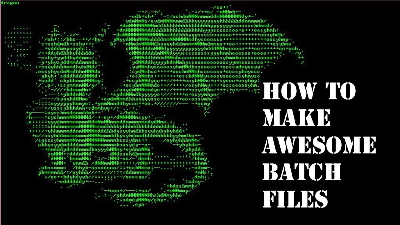 How to create awesome ascii art in command prompt batch for How to make creative drawings