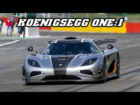 $6 mil KOENIGSEGG ONE:1 flat-out and sideways at Spa