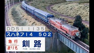 北の大地を往く列車6 急行まりも 14系500番台 DD51