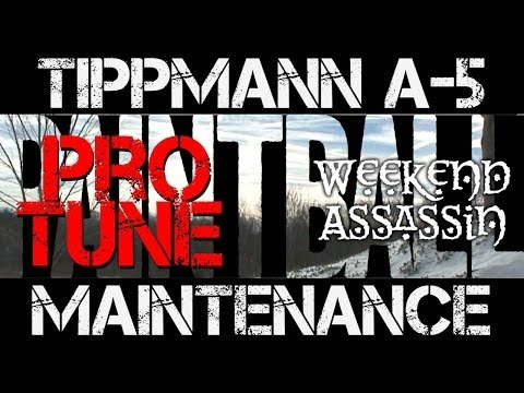 Pro Tune Tippmann A-5 Maintenance Dial In Strip Down Video Paintball Accuracy Consistency