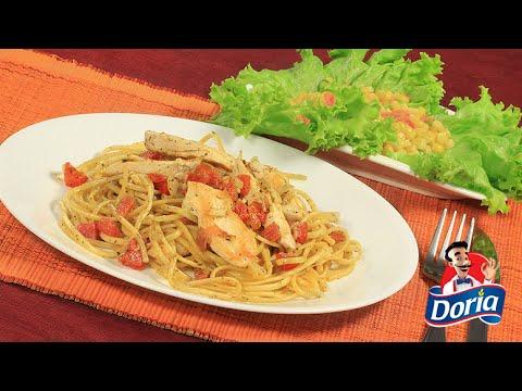 Spaghetti Doria sabor Pollo Asado con julianas de pollo